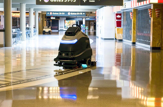 Autoscrubber Airport Cleaning Technology