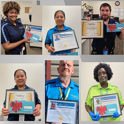 Frontline Janitorial Employees with Awards