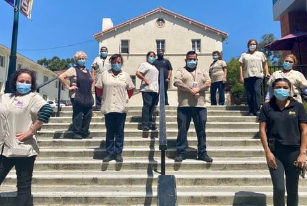 Frontline Janitor Employees