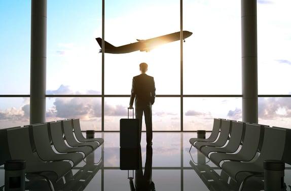 Travel Businessman in  Airport