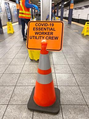 Covid-19 Essential Sanitation Crew Sign