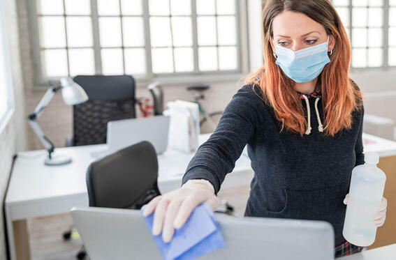 Properly Disinfecting Office Workstation