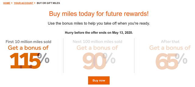 Buy Airline Miles for Future Rewards